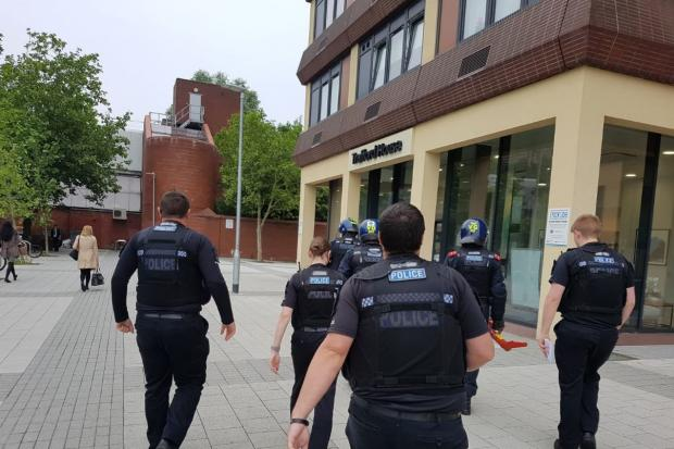 Raid - the officers in Basildon