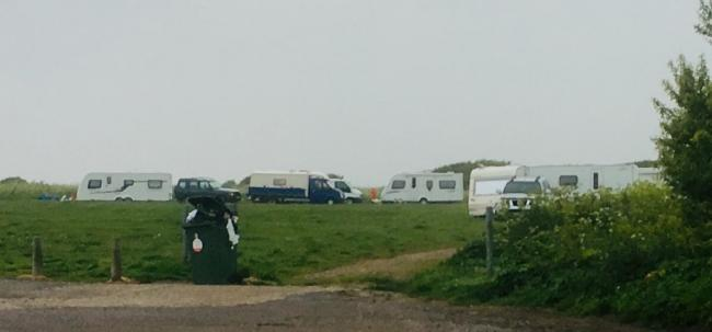 Travellers off West End Lane in Dovercourt back in May