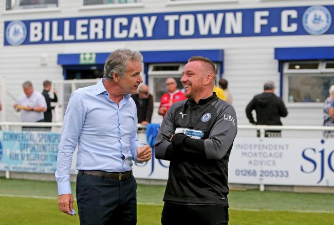 All smiles - Kevin Bond (left) and Jamie O'Hara Picture: NICKY HAYES/iCORE LTD