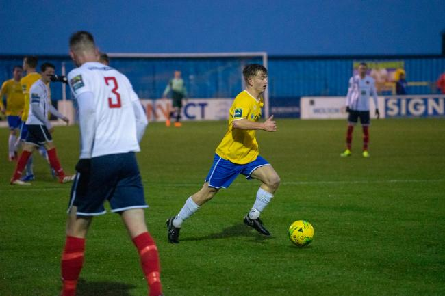 Hit the winner - Kane Gilbert ensured Canvey Island would beat a Leyton Orient XI in their pre-season meeting  Picture: AL UNDERWOOD