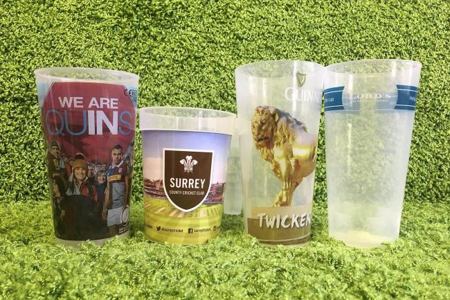 A number of sporting venues have brought in reusable cups