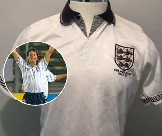 Lineker's Shirt, credit: Stacey's Auctioneers