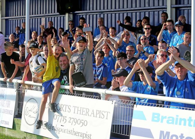 Backing their team - Billericay Town supporters Picture: NICKY HAYES/iCORE LTD