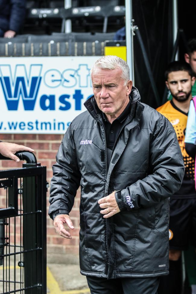 Forced onto the sidelines - John Coventry's East Thurrock United Picture: JACQUES FEENEY