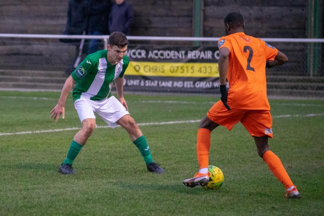 Set for his final Great Wakering Rovers appearance - Ollie Woodhouse Picture: AL UNDERWOOD
