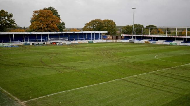 Shocking - Billericay Town's clash with Weymouth was postponed after the pitch was vandalised Picture: NICKY HAYES/iCORE LTD