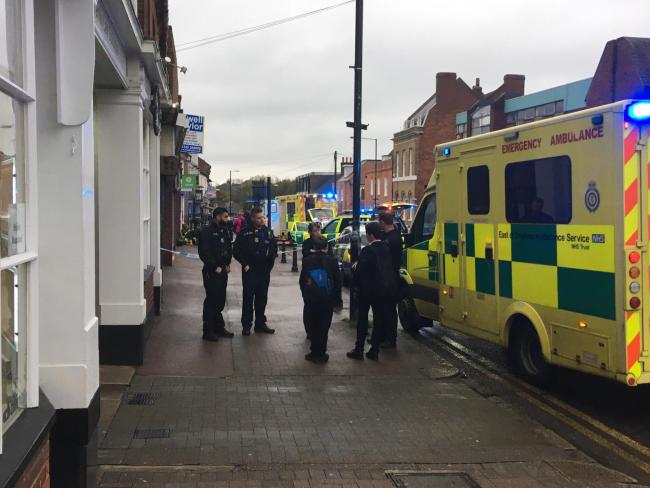 Police cordon set up in busy high street after incident