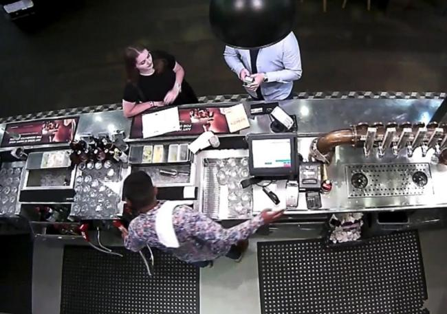 Undated handout cctv grab issued by Auckland City Police of Grace Millane at a bar inside the SkyCity casino in Auckland with the 27-year-old male who is accused of her murder. PA Photo. Issue date: Thursday November 7, 2019. The male defendant, who canno