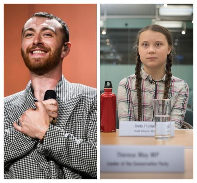 Sam Smith and Greta Thunberg have links to Collins Dictionary Word of the Year. Pic credit PA/Stefan Rousseau
