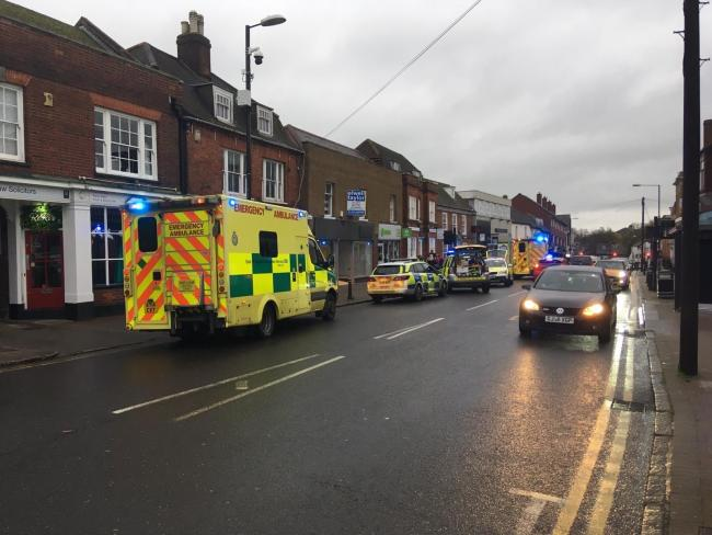 Scene - emergency services in Billericay High Street during the incident