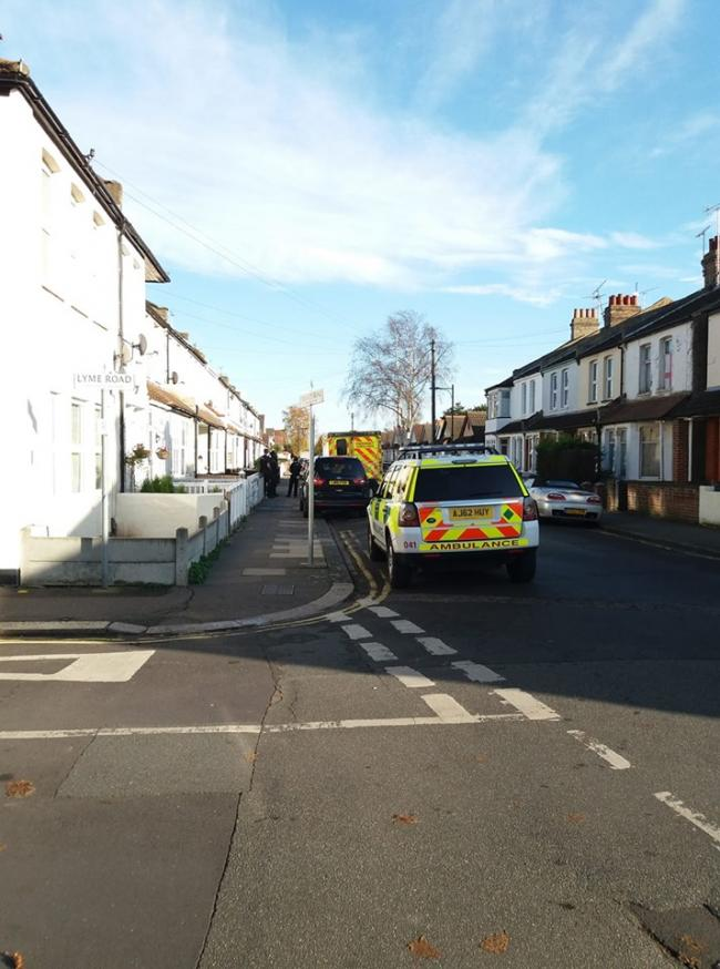 Armed police in Trinity Road. Picture: Lisa Wright
