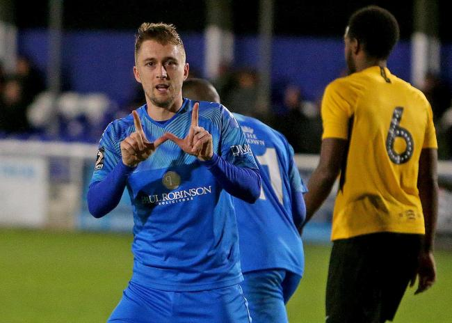 Had an eventful evening - Billericay Town striker Jake Robinson Picture: NICKY HAYES/iCORE LTD