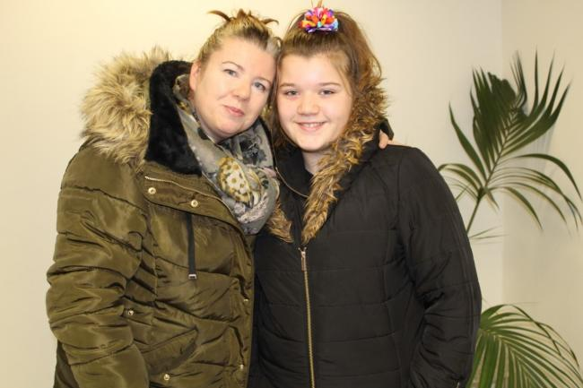 Support - Susannah Cannon and her daughter Eden Rose donated to help Harp's clients over Christmas
