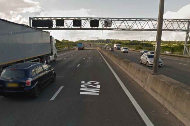 M25 crash causes major traffic tailbacks