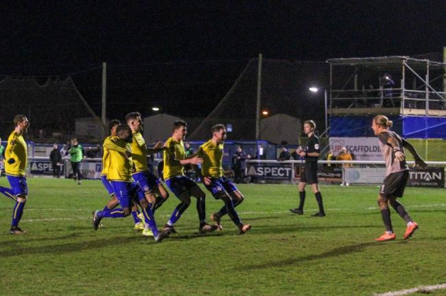 Scenes - Concord Rangers are into the quarter-finals of the FA Trophy Picture: PAUL RAFFETY