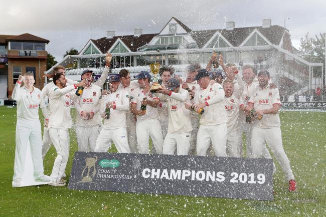 Champions - Essex won the county championships last season