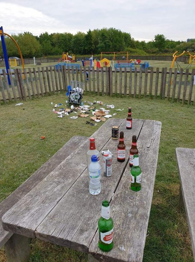 Yobs leaving appalling mess behind at park
