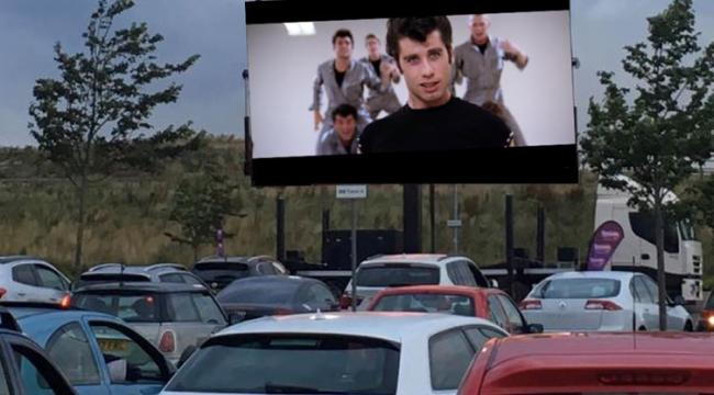 Potential - drive-in cinemas have proved a huge hit during lockdown and Garon Park is set to be set-up as pictured