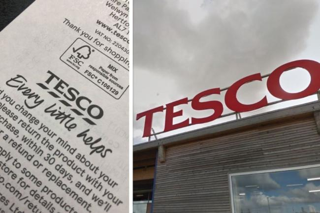 The hidden message to every shopper on Tesco receipts (Have you spotted it?). Picture: Newsquest