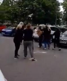Large fight breaks out in KFC car park