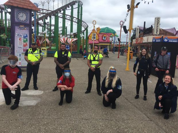 Basildon Standard: Adventure Island crew -- respecting safety and social distance