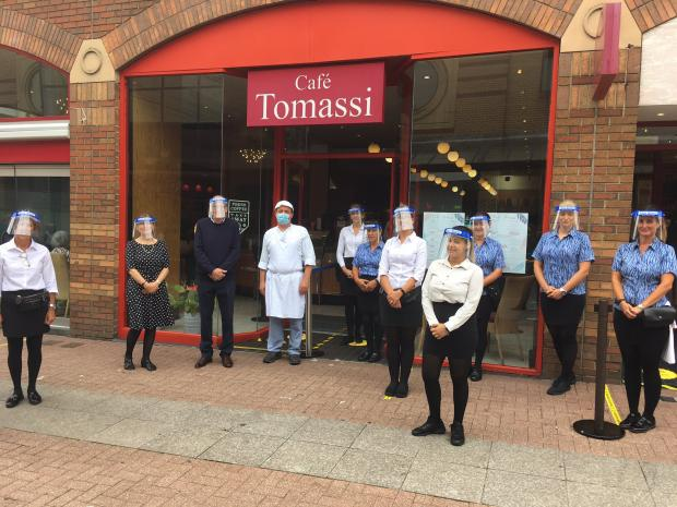 Basildon Standard: Anthony Tomassi and his team at Tomassi's in Southend High Street