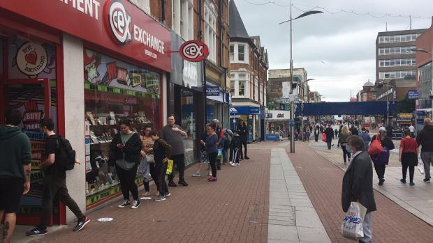 Basildon Standard: The queue at Cex in Southend