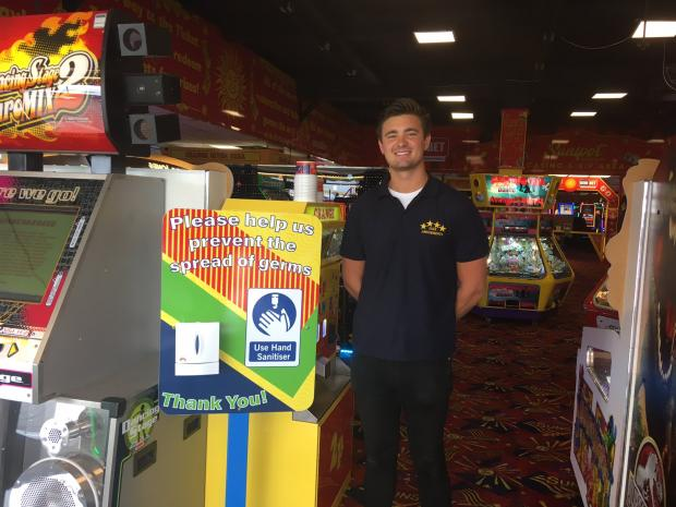 Basildon Standard: John Joseph, at Star Amusements in Southend who has developed a QR code to help test and trace