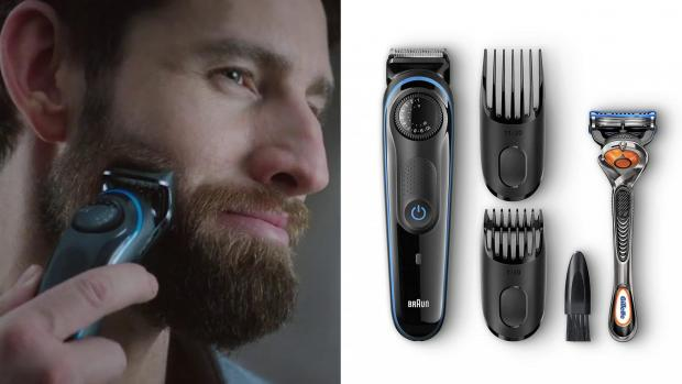 Basildon Standard: This Braun trimmer comes with a variety of accessories to help you clean your edges perfectly. Credit: Braun
