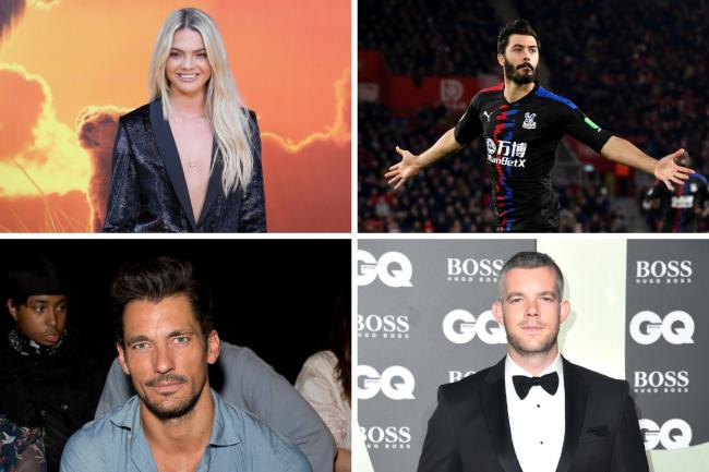 South Essex stars - singer Louisa Johnson, Premier League footballer James Tomkins, model David Gandy and actor Russell Tovey