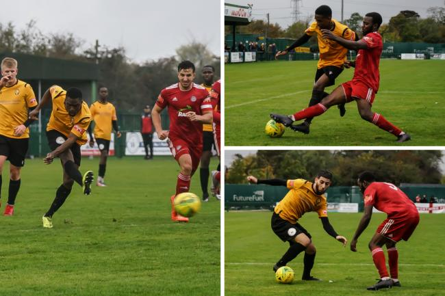 Beaten - East Thurrock United lost 3-1 to Worthing   Pictures: MIKEY CARTWRIGHT