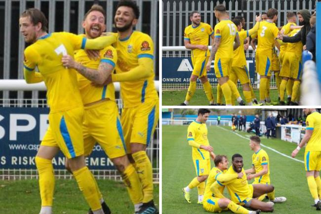 Memorable afternoon - Concord Rangers beat Chippenham Town to reach the first round of the FA Cup   Pictures: PAUL RAFFETY