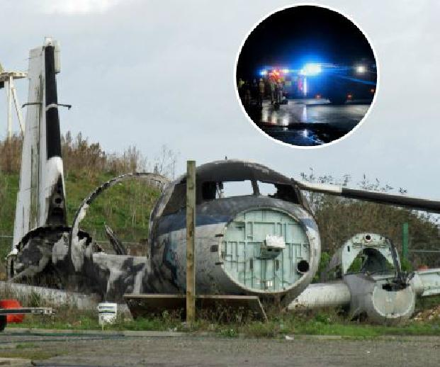 The destroyed plane in Rochford following the fire on January 28. Pics: Simon Murdoch