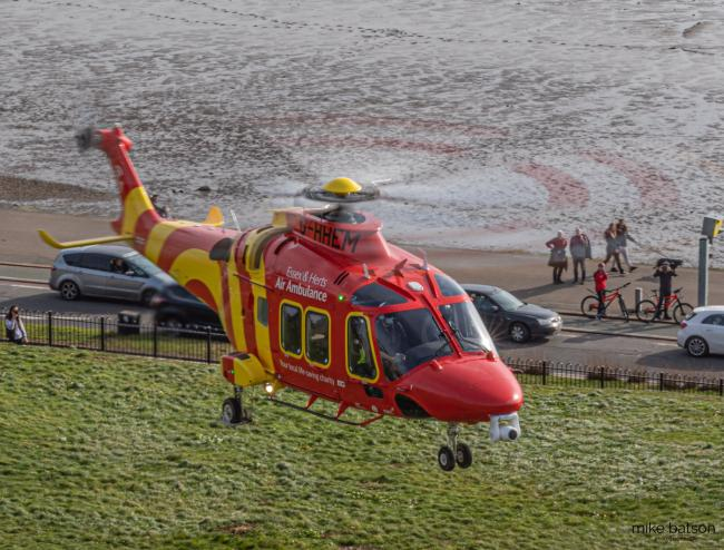 The air ambulance in Southend. All pics by Mike Batson