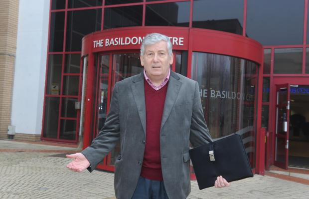 Basildon Standard: Labour leader Nigel Smith outside the Basildon Centre