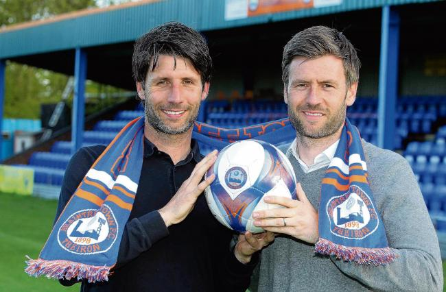 New team - Danny, manager, and Nicky Cowley, assistant manager at Braintree