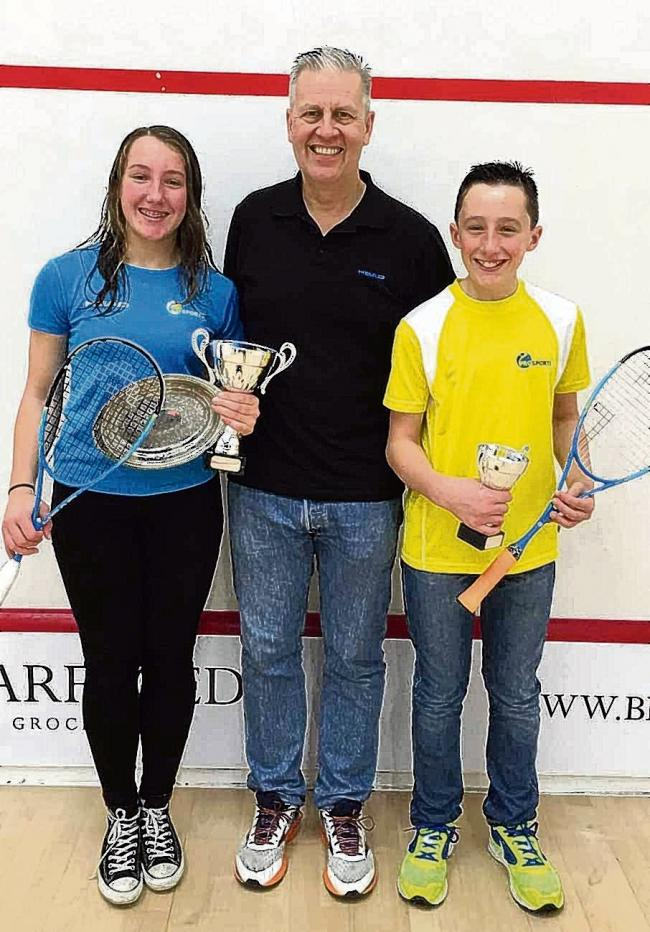 Green machines – Alice and Ollie Green with coach Paul Selby