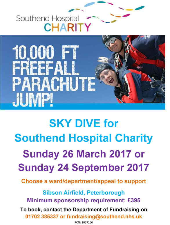 Sky Dive for Southend Hospital Charity