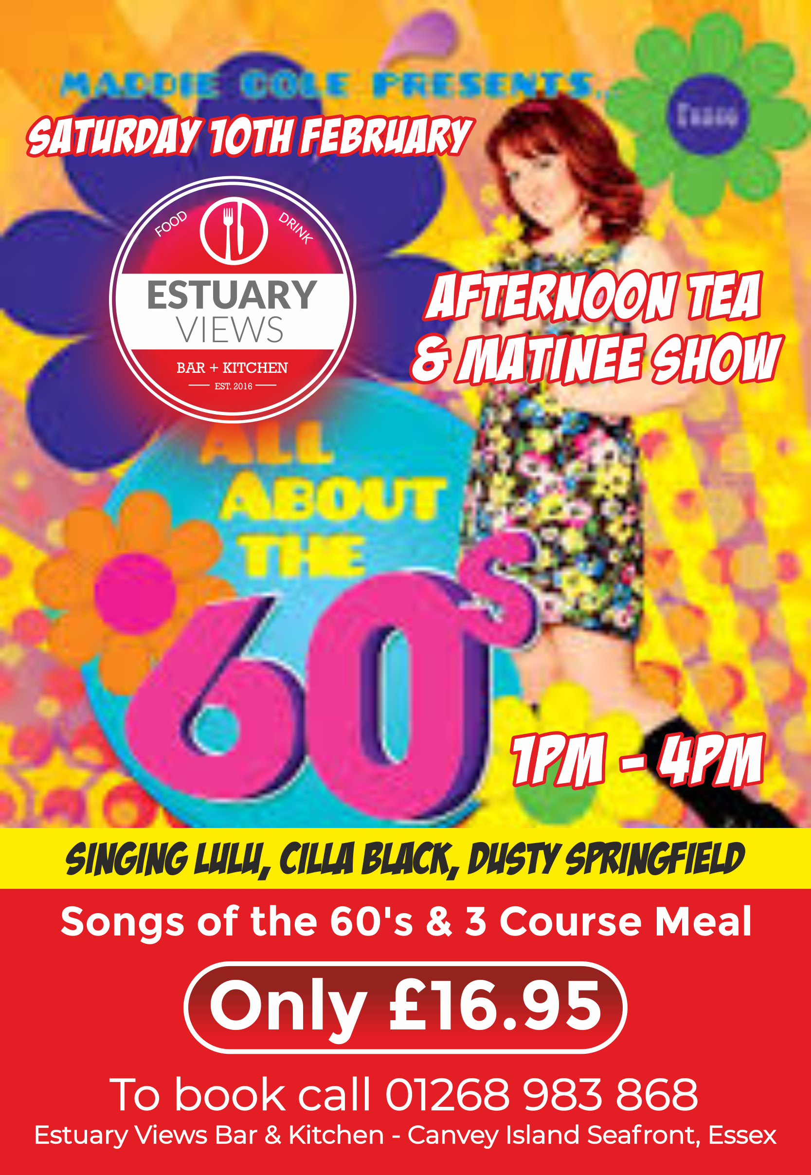 Sounds of the 60's Matinee Show with Afternoon Tea