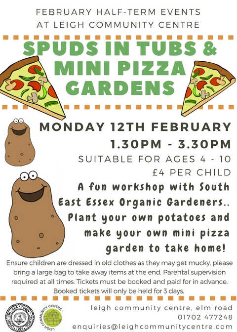 Spuds in Tubs and Mini Pizza Gardens - Gardening Workshop!