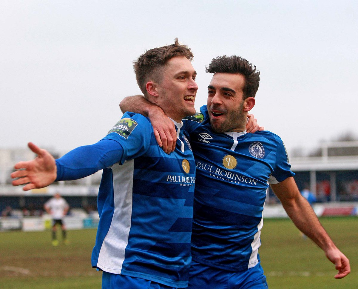 Key pair - Billericay goalscorers Sam Deering and Jake Robinson Picture: NICKY HAYES