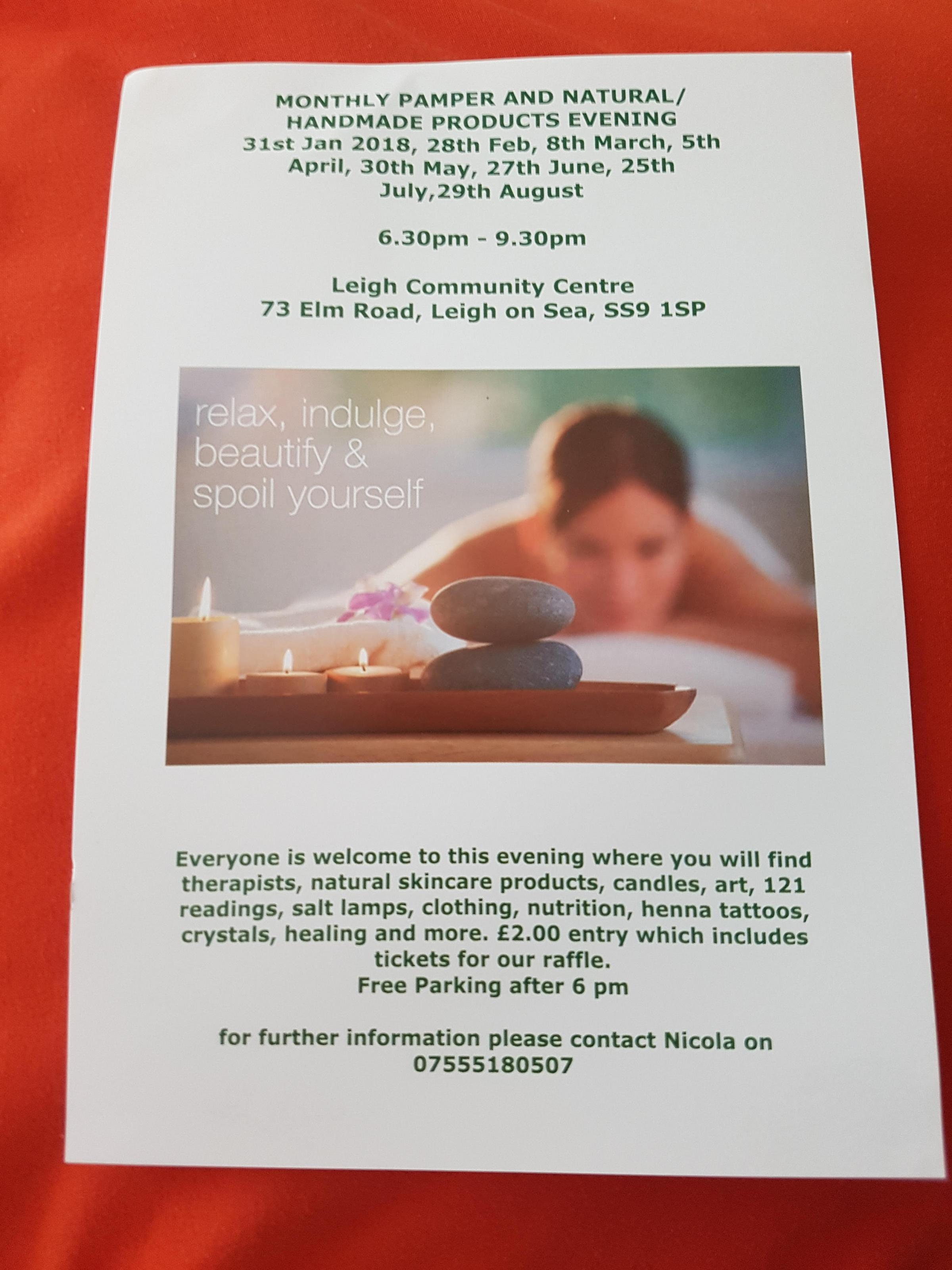 Pamper and Natural stall holders Evening