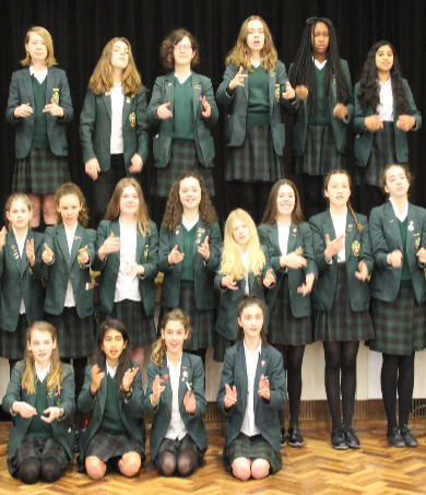 Deaf students sign the way for fellow pupils