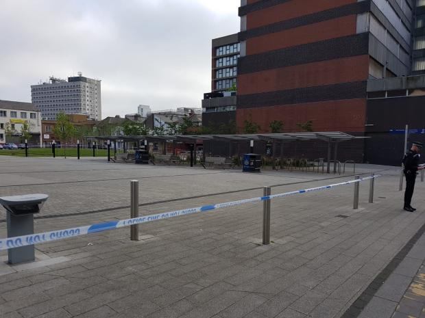 Large Essex Police cordon still in place after murder investigation launched outside library