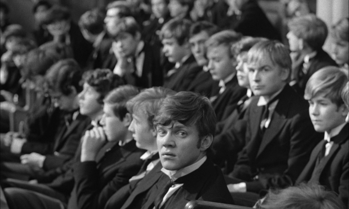 A still from 'if...' with actor Malcolm McDowell making his film debut