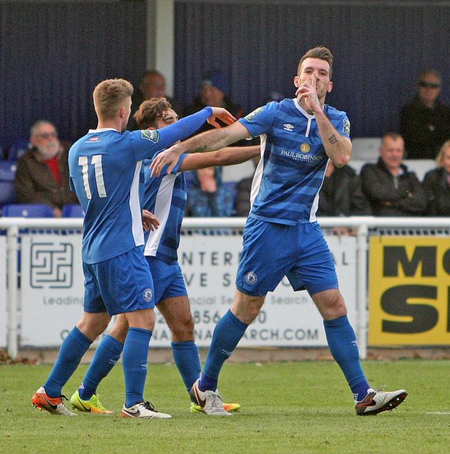 Back in blue - Joe Ellul, right, will play for Billericay Town once again in 2018/19        Pics: NICKY HAYES