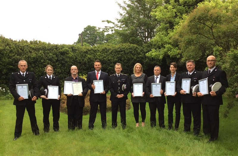 Officers and residents commended for their bravery