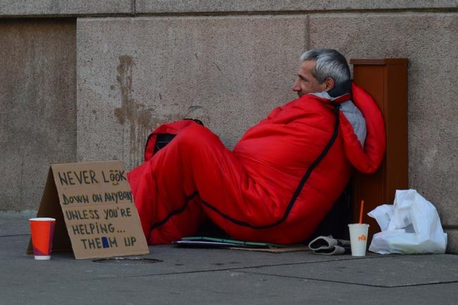 What you can do if you see a homeless person sleeping rough