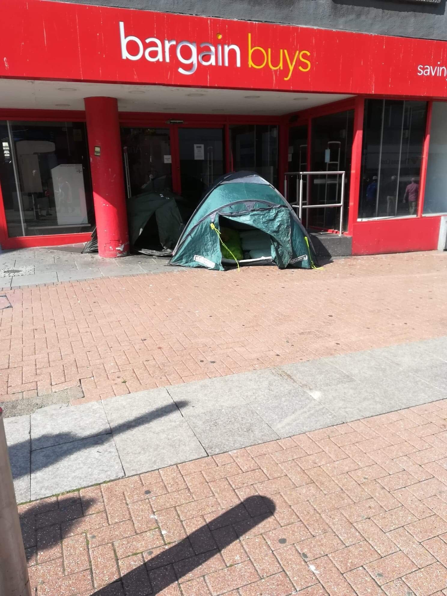 Tents in Southend high street