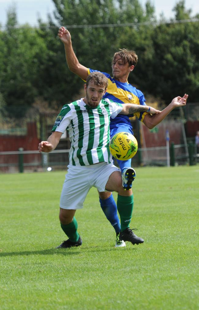 On target - Great Wakering Rovers' Jake Gordon Picture: STEVE O'CONNELL